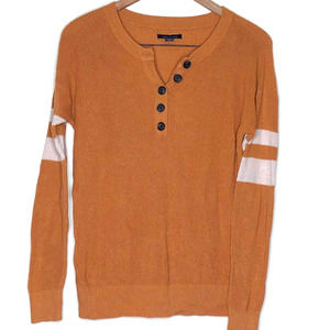 American Eagle Ribbed Knit Camel Stripe Sweater XS
